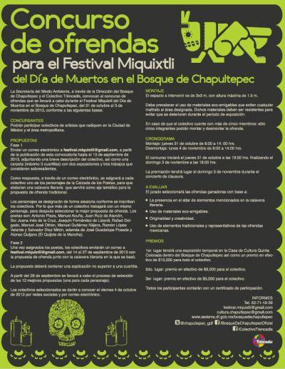 Concurso de Ofrendad para el Festival Miquixtli